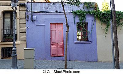 púrpura, casa,  Barcelona