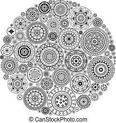 Mandala Pattern - Round Ornament Pattern.