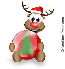navidad, reno,