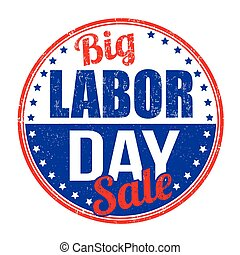 Labor day stamp - Labor day grunge rubber stamp on white...