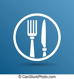 Food service vector logo design template cafe.
