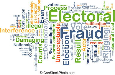 Electoral fraud background concept - Background concept...