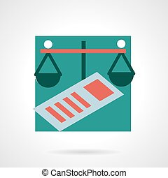 Finance flat vector icon - Flat color design vector icon for...