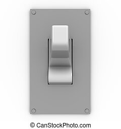 light switch frontal view - 3D illustration of a light...