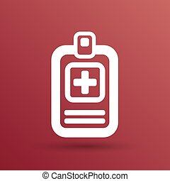 Medical records icon medical check health doctor document