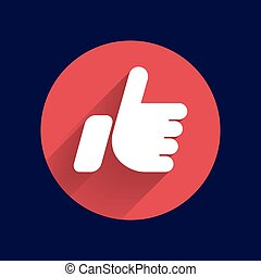 like hand ok icon vector line design