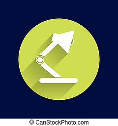 Reading lamp Single flat icon Vector illustration