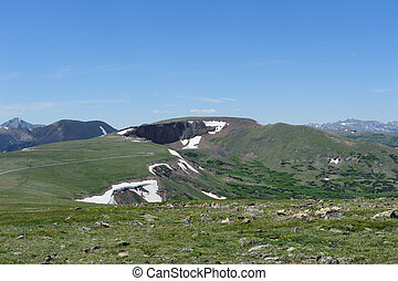 Colorado Mountain top - Majestic Cliffs overhang a beautiful...