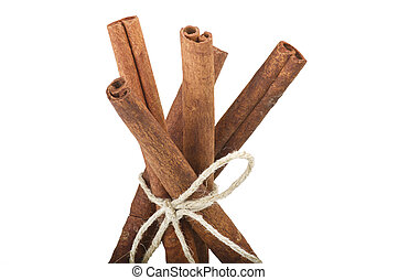Cinnamon stick - cinnamon stick spice close up on the white
