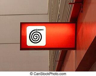 Fire Hose Sign, Fire Hose Symbol