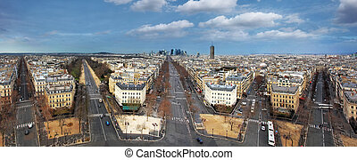 Paris panorama from Arch de Triumph