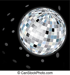 Disco Ball - Disco ball for party preview, vector...