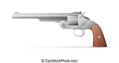 Revolver isolated on white background, excellent vector...