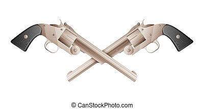 Revolvers isolated on white background, excellent vector...