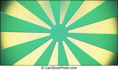 Green sunburst in vintage style