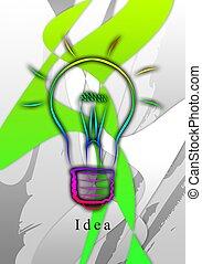 Light bulb business idea - A light bulb of idea. An...