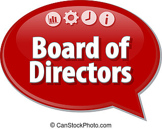 Board of Directors Business term speech bubble illustration...