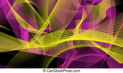 Abstract background in yellow and purple on black