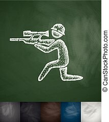 sharpshooter icon. Hand drawn vector illustration....