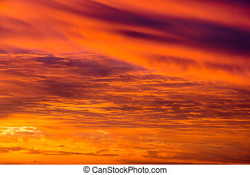 Sunset sky - Sunset blue sky and clouds backgrounds
