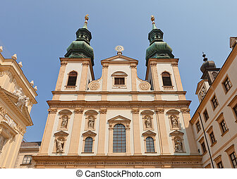 Jesuit Church circa 1631 in Vienna, Austria - Jesuit Church...