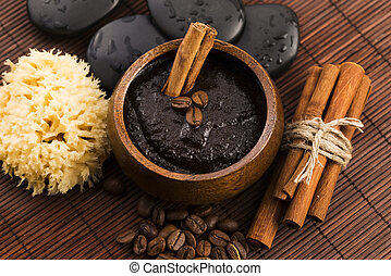 Homemade face and body organic all natural coffee scrub...