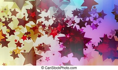 Flashing stars in various colors