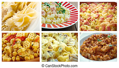set of different pasta. - Food set of different italian...
