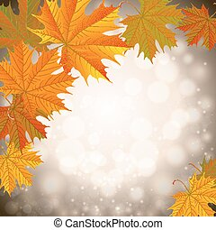 Autumn leaves background - Illustration of colorful autumn...