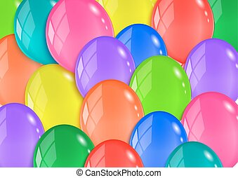 Colorful balloon background - Illustration of glossy...