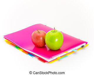 Office Documents and Apples - Present of fruits and messages...