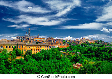 Sienna Italy - Historical city of Sienna  Italy.