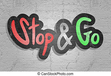 Sticker go and stop - Creative design of Sticker go and stop