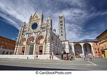 Sienna Italy Cathedral - Historical city of Sienna Italy and...