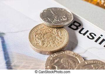 coins in full frame background Shallow focus