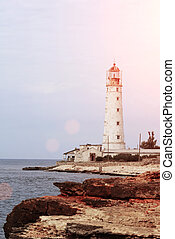 Beautiful view on the lighthouse