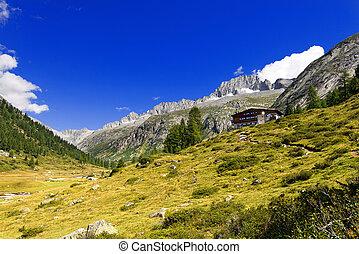 Care Alto - Adamello Trento Italy - Peak of Care Alto 3462 m...