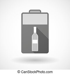 Isolated battery icon with a bottle of wine