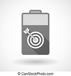 Isolated battery icon with a dart board - Illustration of an...