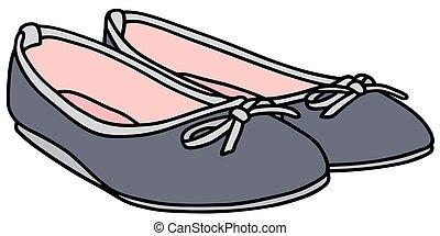 Black Blue Shoes Clipart