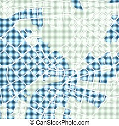 halftone street map - Halftone vector street map of town....