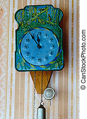 Clock With Hanging Weights and pendulum - Clock With Hanging...