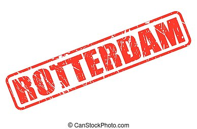 ROTTERDAM red stamp text on white