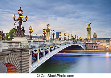 Paris. - Image of the Alexandre III Bridge located in Paris,...