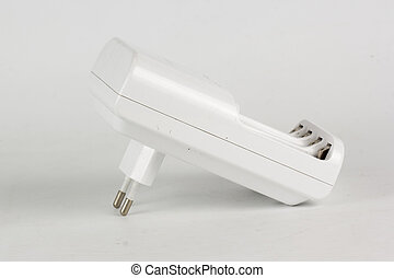 Battery charger isolated on the white background