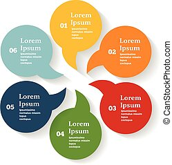 Vector circle color  infographic. Template for diagram, graph, presentation and chart.