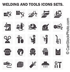 Icons - Welding and tools icons sets.