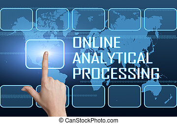 Online Analytical Processing concept with interface and...