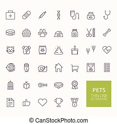 Pets Outline Icons