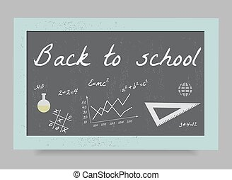 Back to school backgrounds - School board with the formulas...